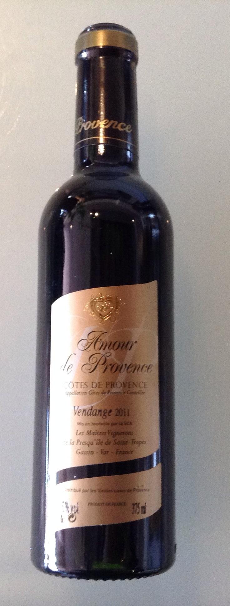 Côte de Provence Amour Provence 37.5cl rouge