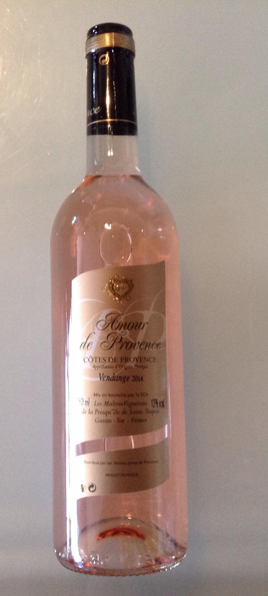 Côte de Provence Amour Provence 75cl rosé