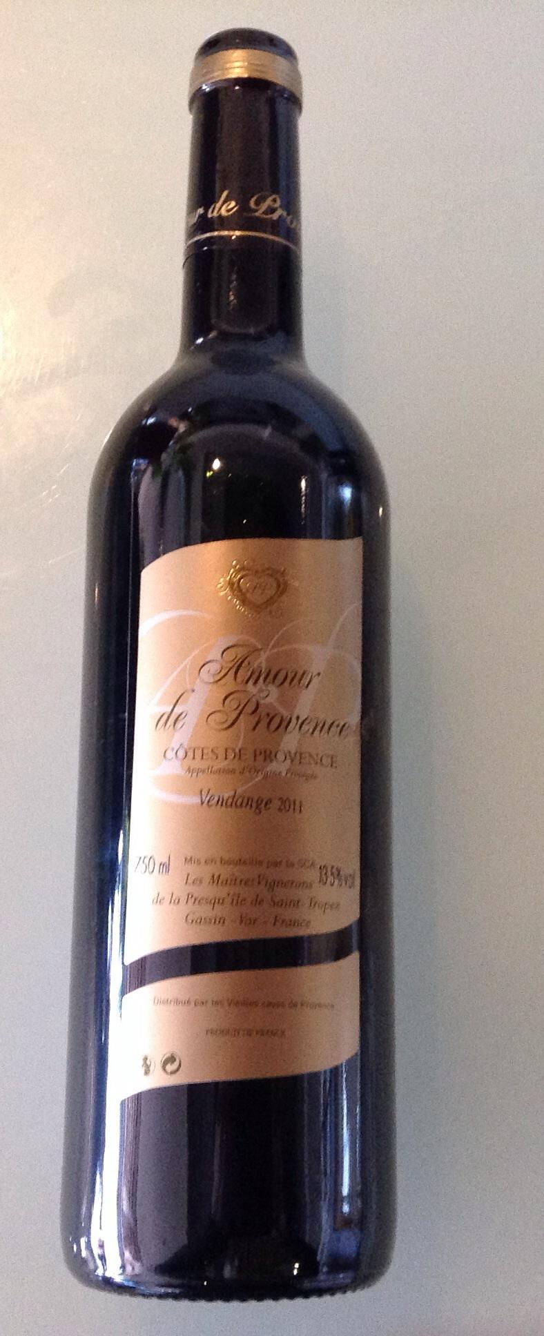 Côte de Provence Amour Provence 75cl rouge
