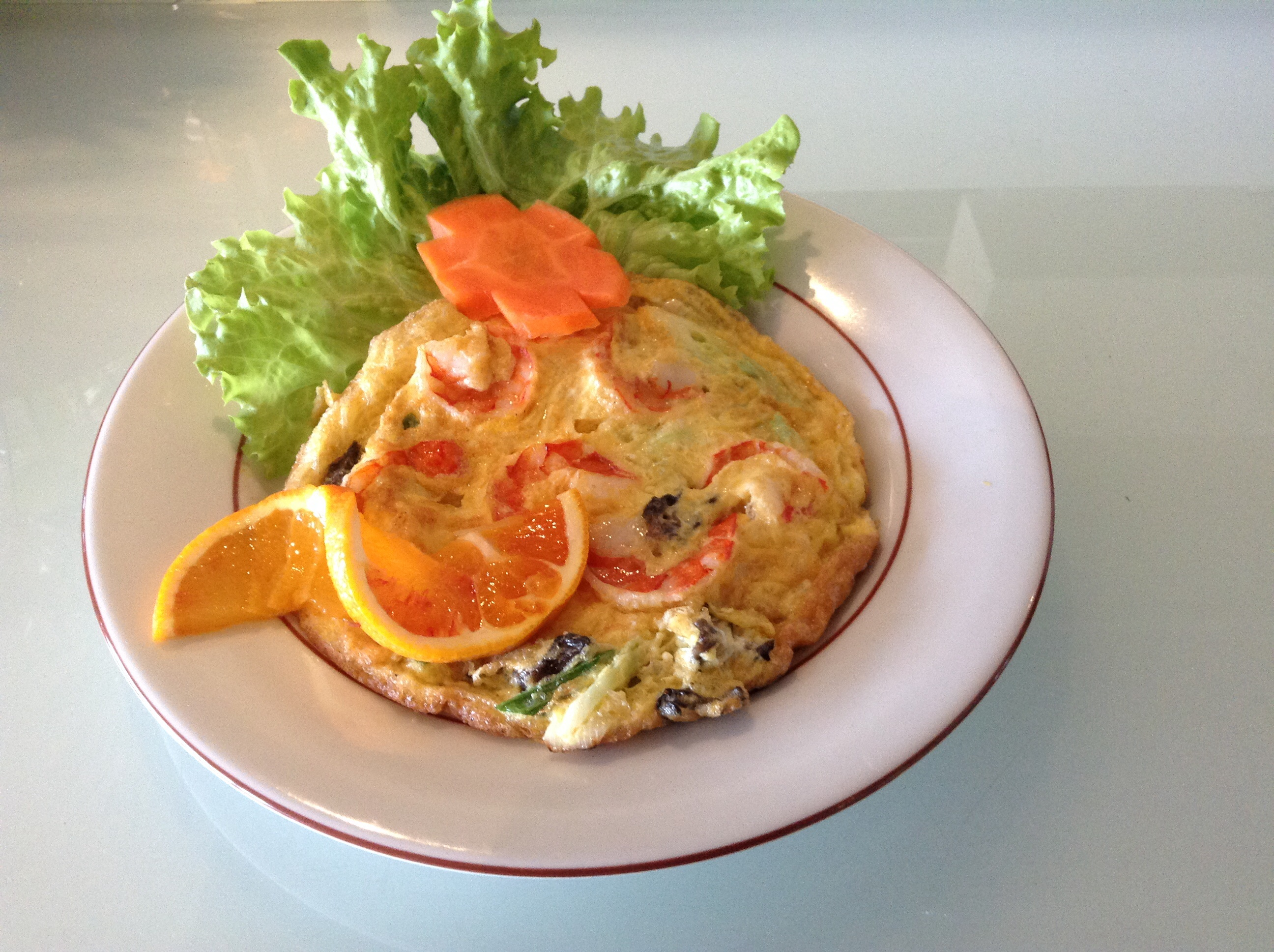 Omelette Crevettes