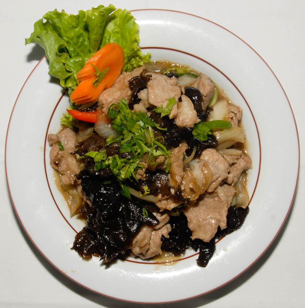Porc aux champignons de chines